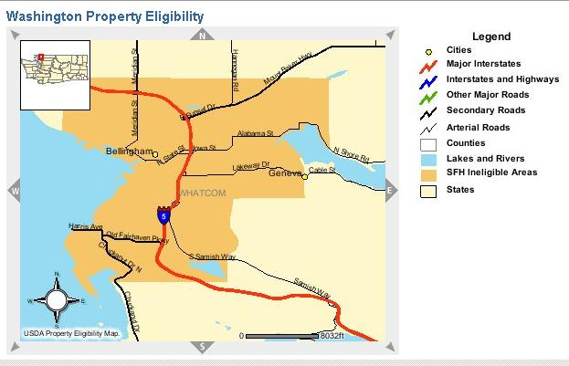 USDA Rural Development Offers No Money Down Home Loans In Whatcom - Usda rural eligibility map