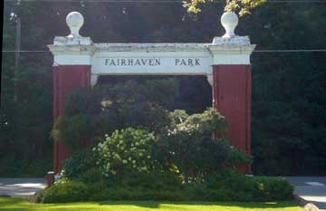 Entrance to Fairhaven Park in the South Neighborhood