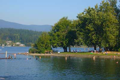 Lake Whatcom in the Silver Beach neighborhood