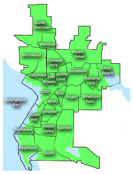 Bellingham's neighborhoods