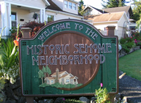 Sehome Neighborhood Sign